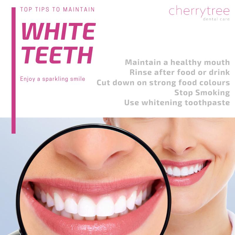 how to keep teeth White